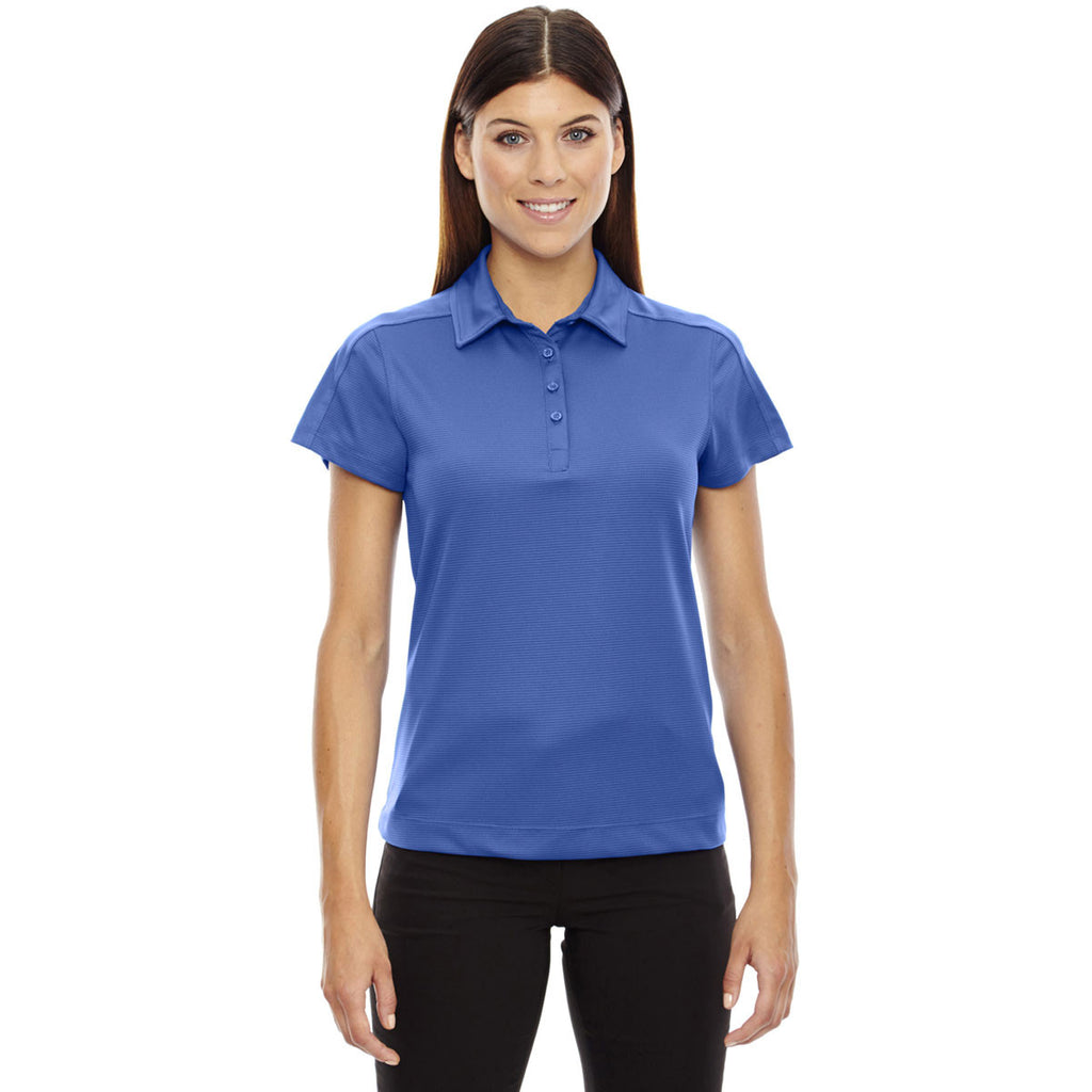 North End Women's Nautical Blue Symmetry Coffee Performance Polo