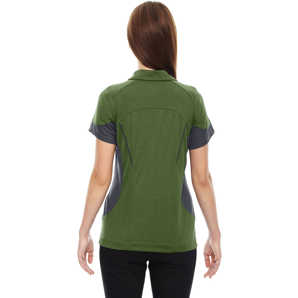 North End Women's Fern Refresh Coffee Performance Melange Jersey Polo