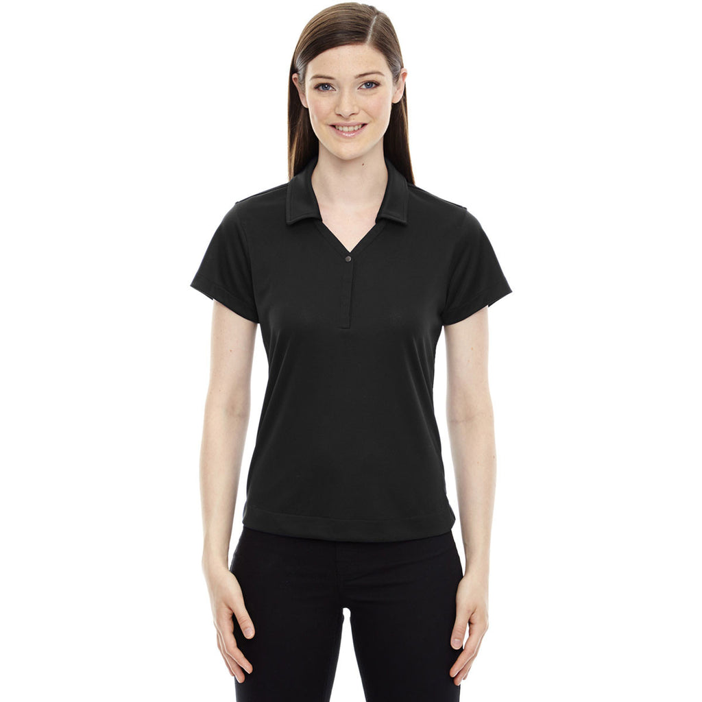North End Women's Black Evap Quick Dry Performance Polo