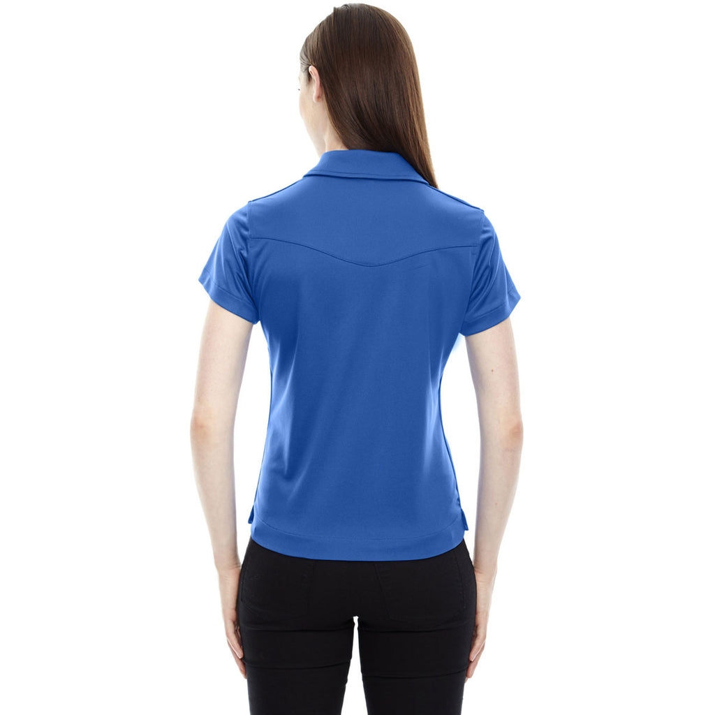 North End Women's Olympic Blue Evap Quick Dry Performance Polo