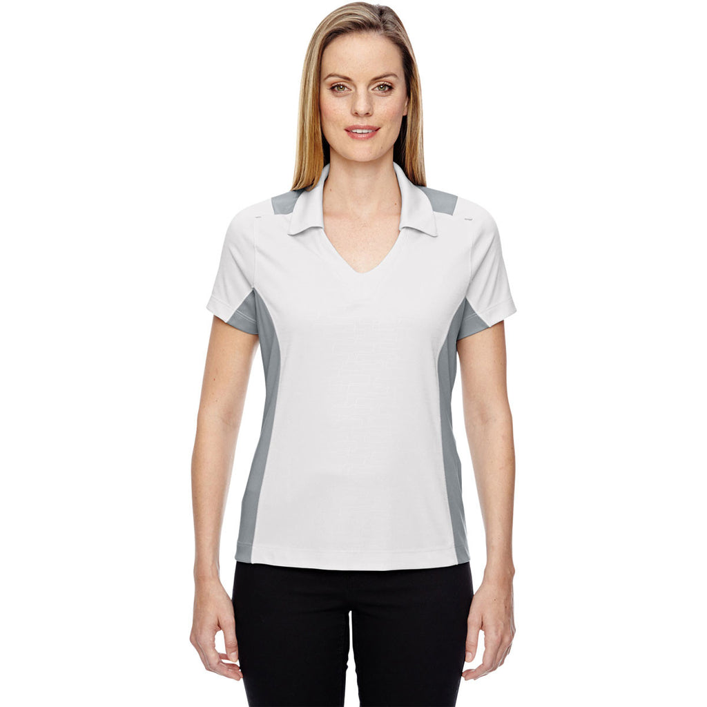 North End Women's Crystal Quartz Performance Embossed Print Polo