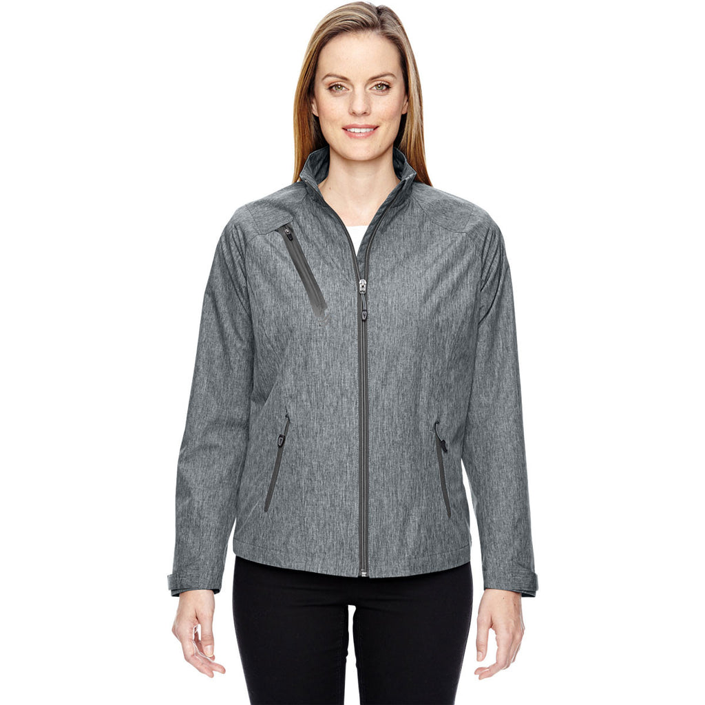North End Women's Light Grey Frequency Melange Jacket