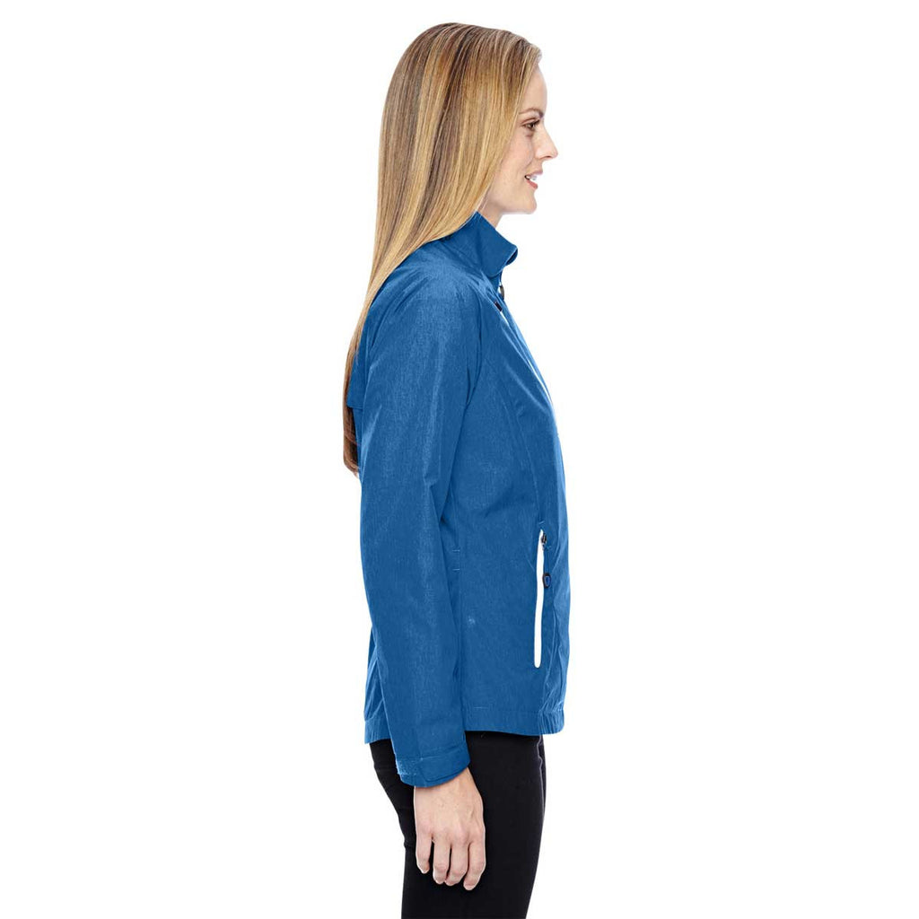 North End Women's Nautical Blue Frequency Melange Jacket