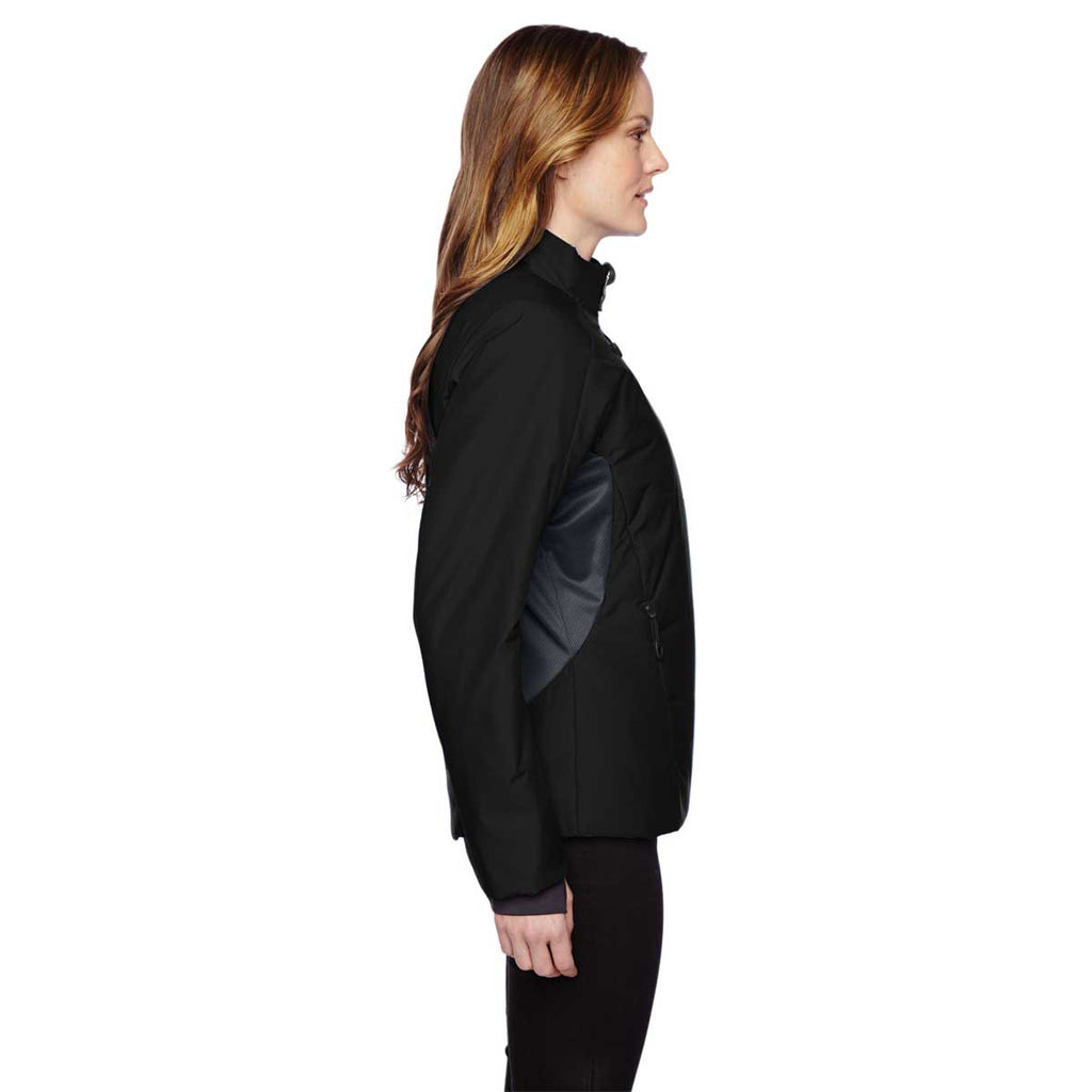 North End Women's Black Insulated Jacket with Heat Reflect Technology