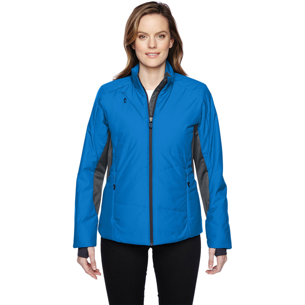 North End Women's Olympic Blue Insulated Jacket with Heat Reflect Technology