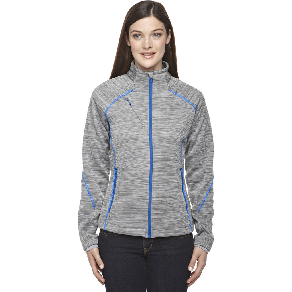 North End Women's Platinum Flux Melange Fleece Jacket