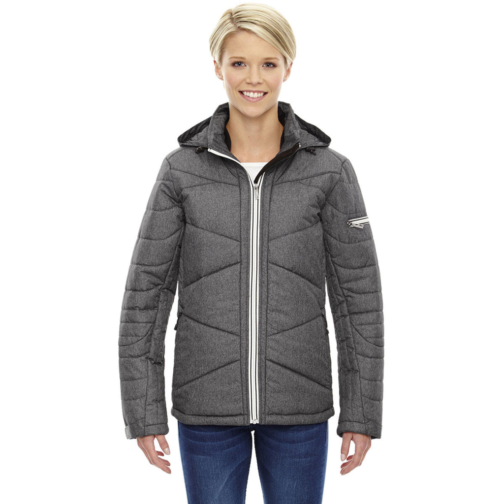 North End Women's Carbon Heather Insulated Jacket with Heat Reflect Technology
