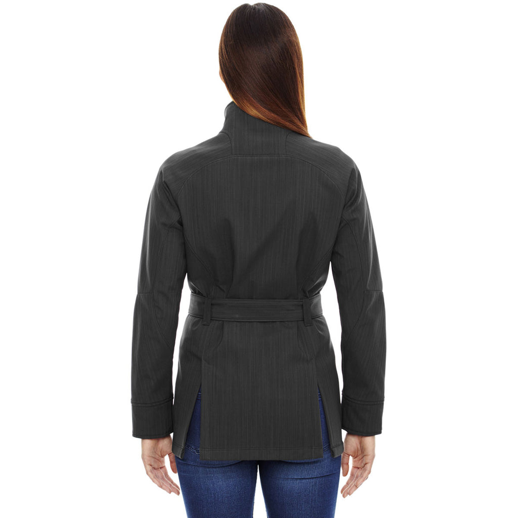 North End Women's Carbon Heather Textured Two-Tone Jacket