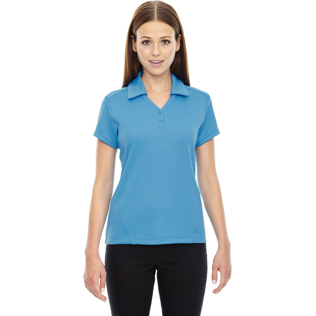 North End Women s Electric Blue Performance Polo with Back Pocket. ADD YOUR  LOGO 6574eeb74