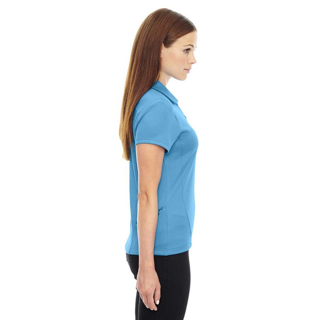North End Women's Electric Blue Performance Polo with Back Pocket