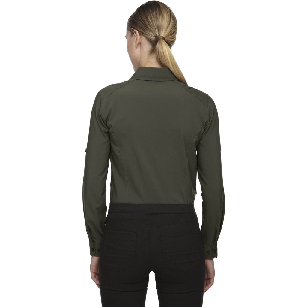 North End Women's Oakmoss Performance Shirt with Roll-Up Sleeves