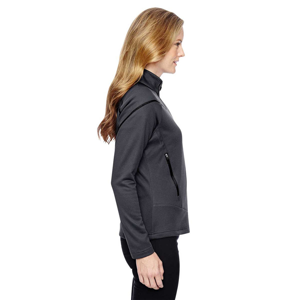 North End Women's Carbon Two-Tone Brush Back Jacket