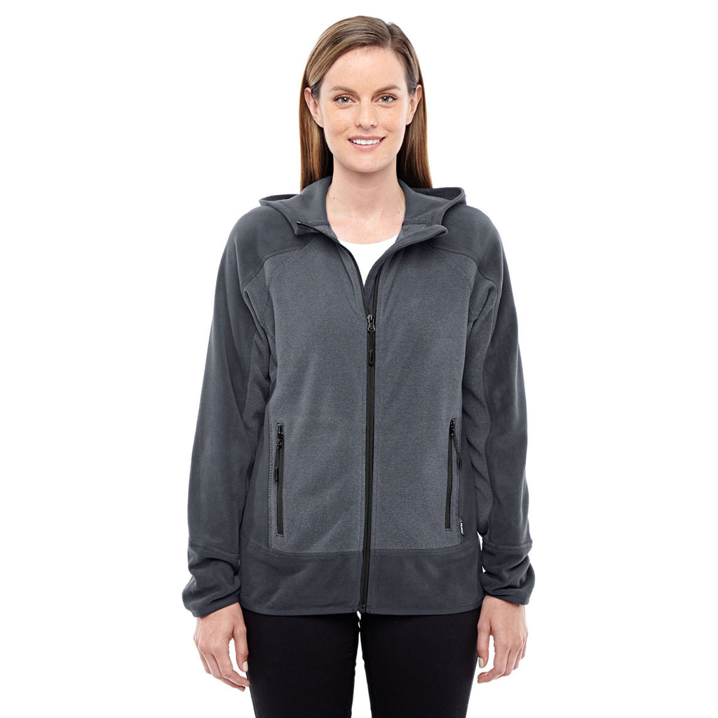 North End Women's Carbon/Black Polartec Active Jacket
