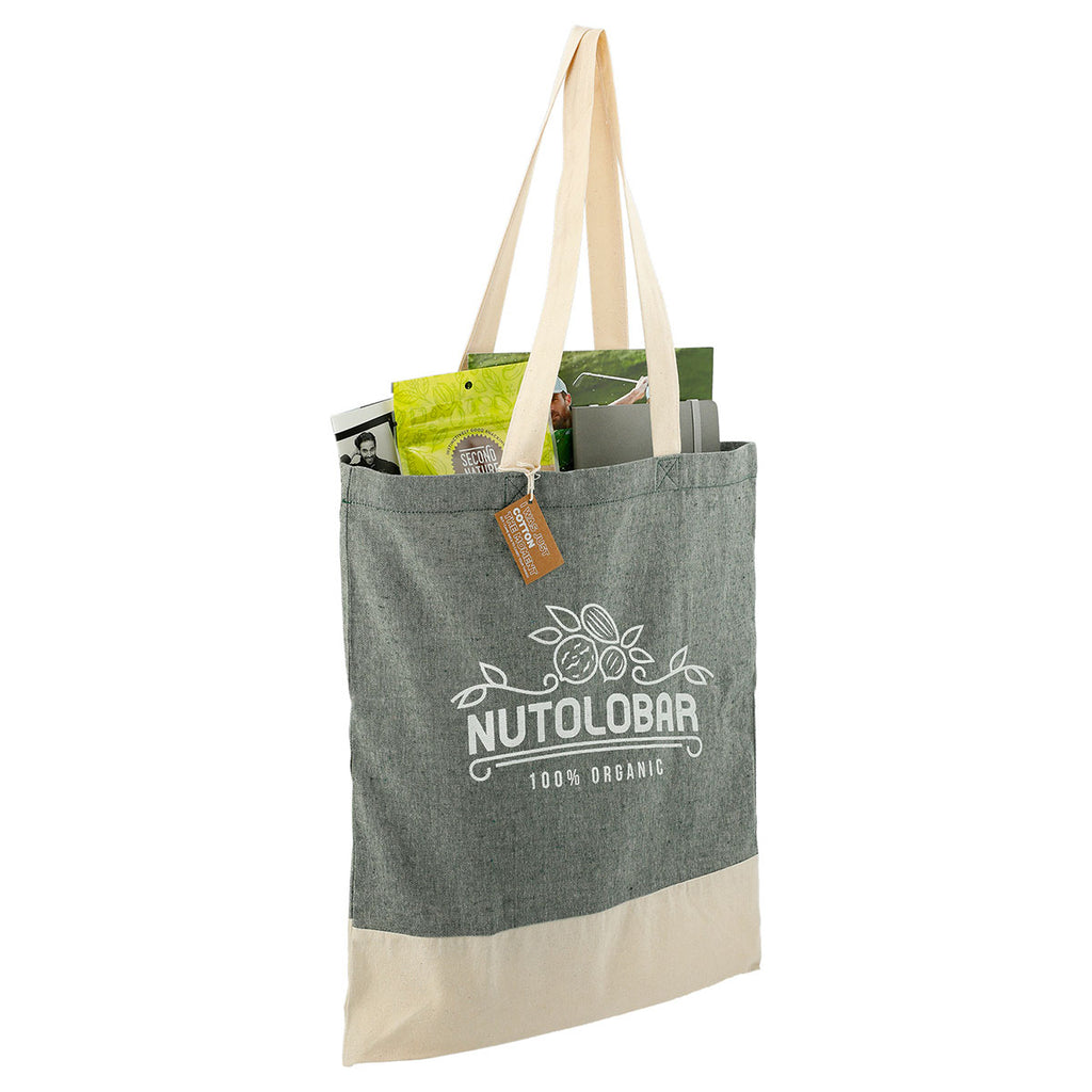 Leed's Dark Green Split Recycled 5oz Cotton Twill Convention Tote