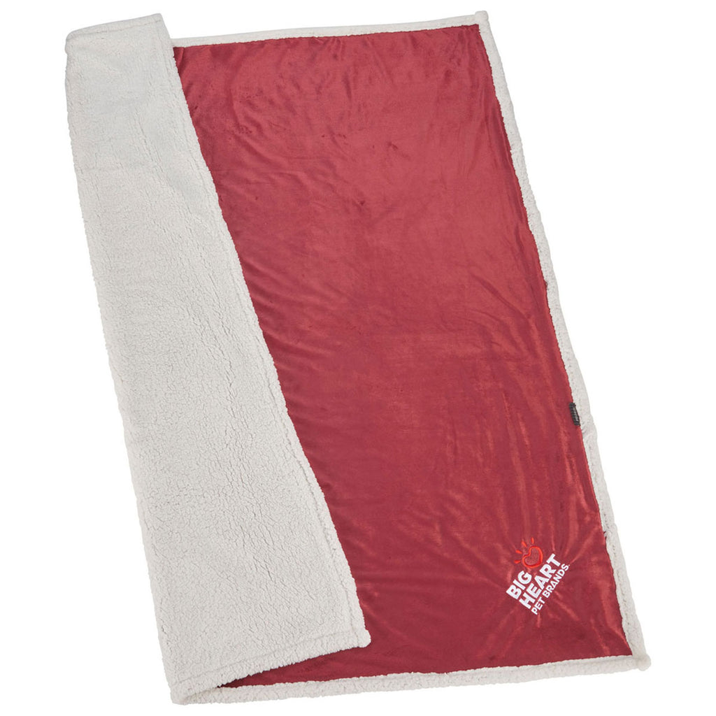 Field & Co. Burgundy Sherpa Blanket