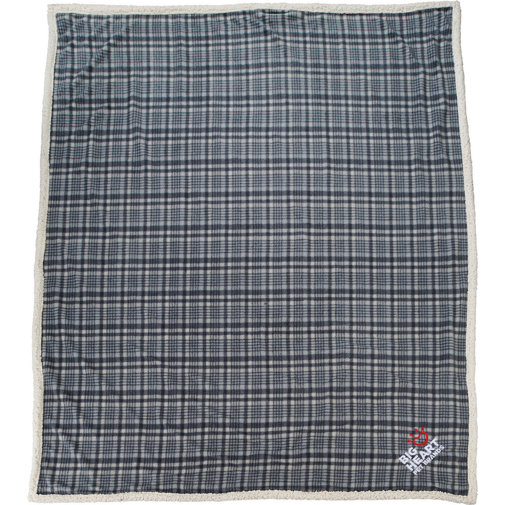 Field & Co. Grey Plaid Sherpa Blanket