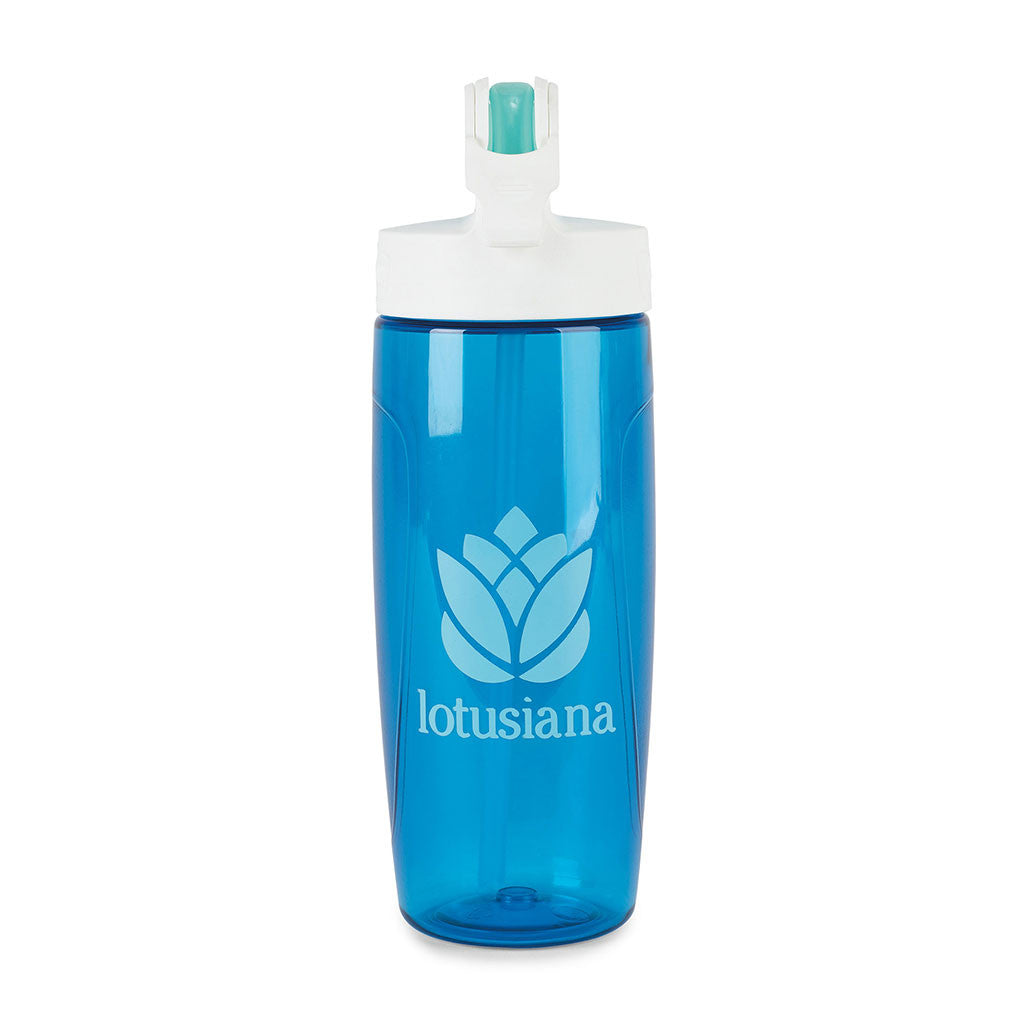Thermos Blue Sport Bottle with Covered Straw- 24 oz.