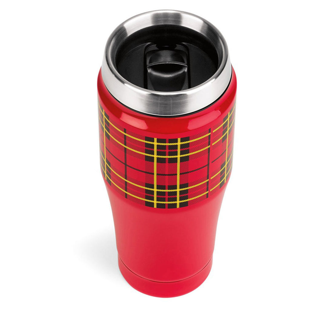 Thermos Red Heritage Plaid Travel Tumbler-16oz