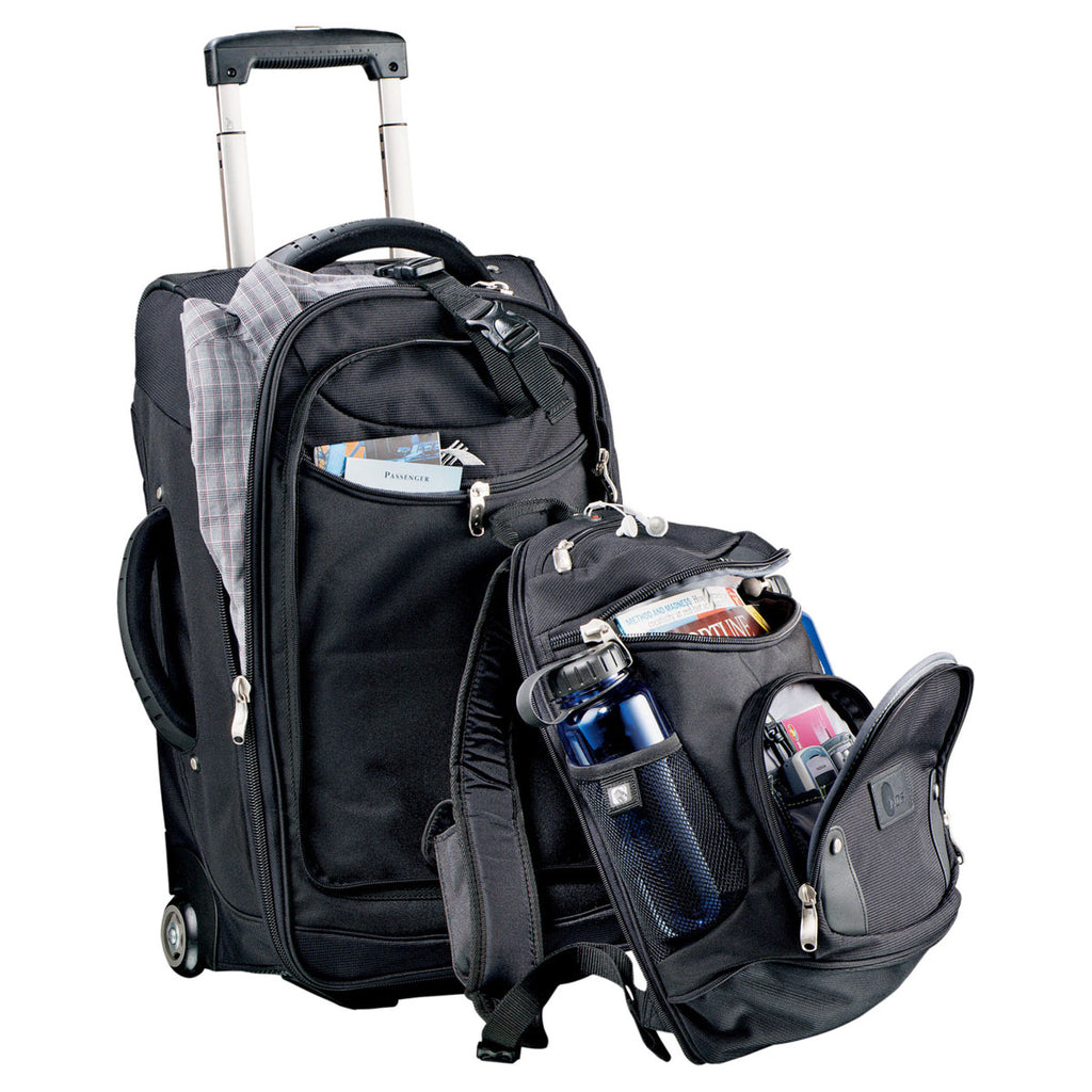 "High Sierra Black 22"" Wheeled Carry-On with DayPack"