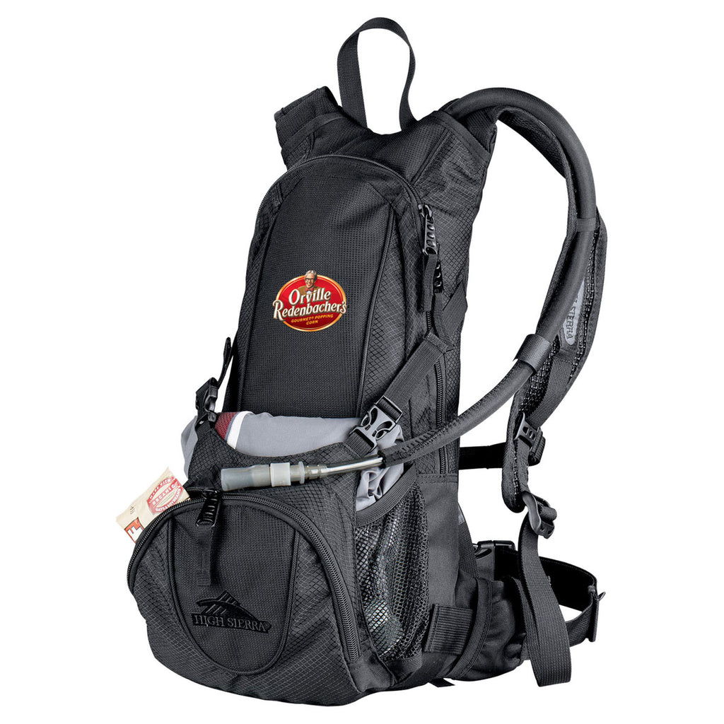 High Sierra Black Drench Hydration Backpack
