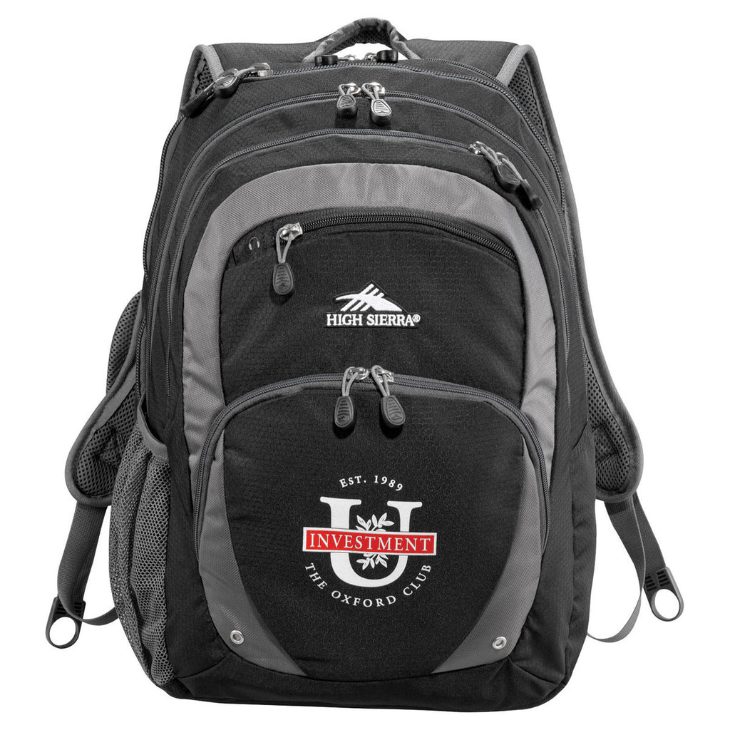 "High Sierra Black Overtime Fly-By 17"" Computer Backpack"