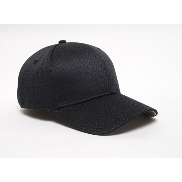 Pacific Headwear Black Universal Fitted Coolport Mesh Cap 8002571d3a7