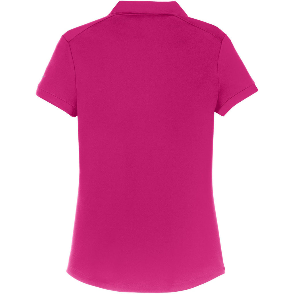 Nike Women's Bright Pink Dri-FIT Smooth Performance Polo