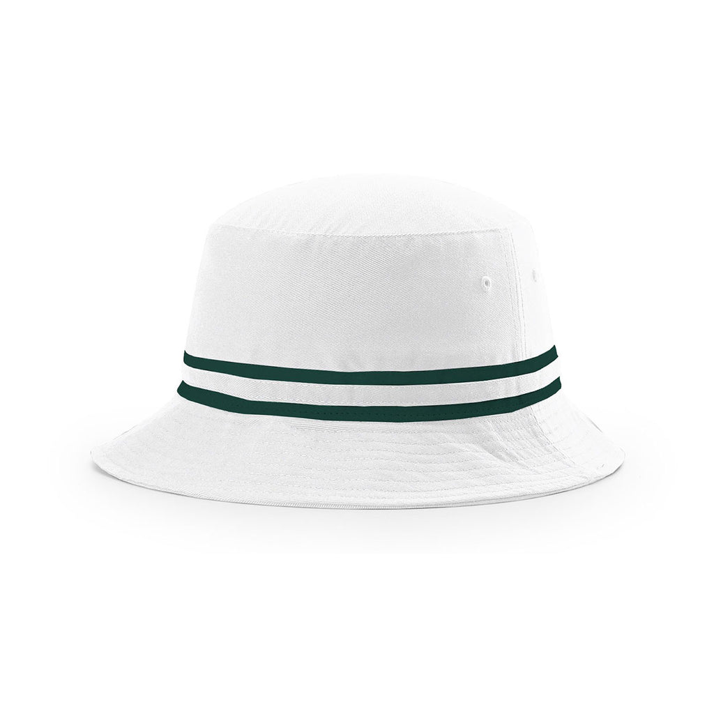 0fb5d8a463106 Richardson White Dark Green Outdoor Bucket Hat with Two Color Band