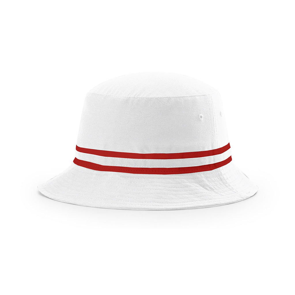 886624f04ab Richardson White Red Outdoor Bucket Hat with Two Color Band