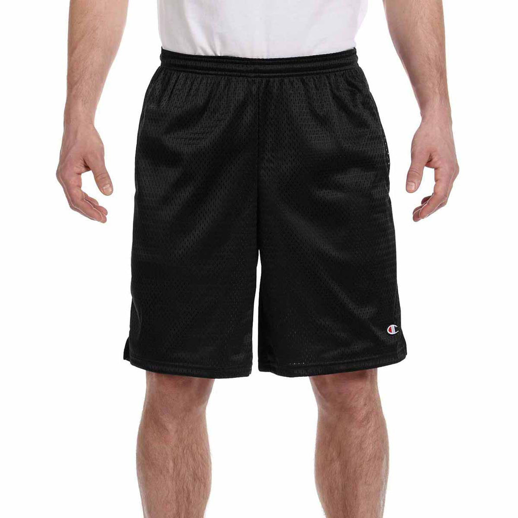 Champion Men's Black 3.7-Ounce Mesh Short with Pockets