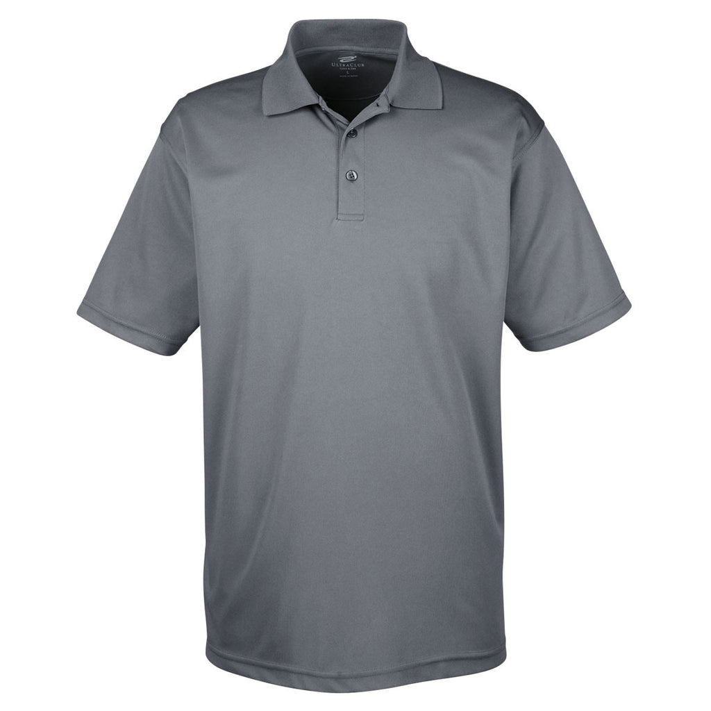 Columbia Blue 8210 UltraClub Mens Cool /& Dry Mesh Piqu/é Polo Medium