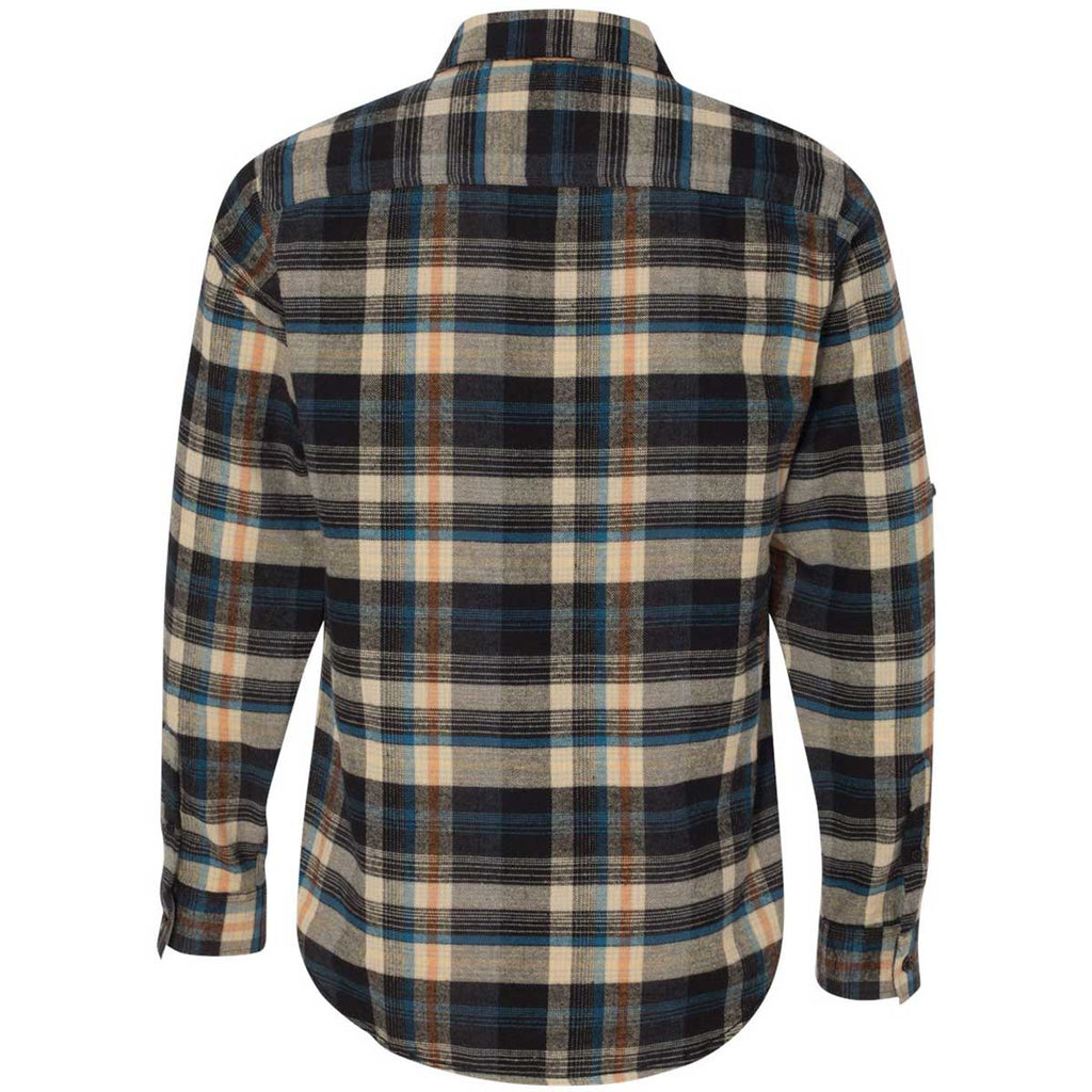 Burnside Men's Dark Khaki Yarn-Dyed Long Sleeve Flannel Shirt