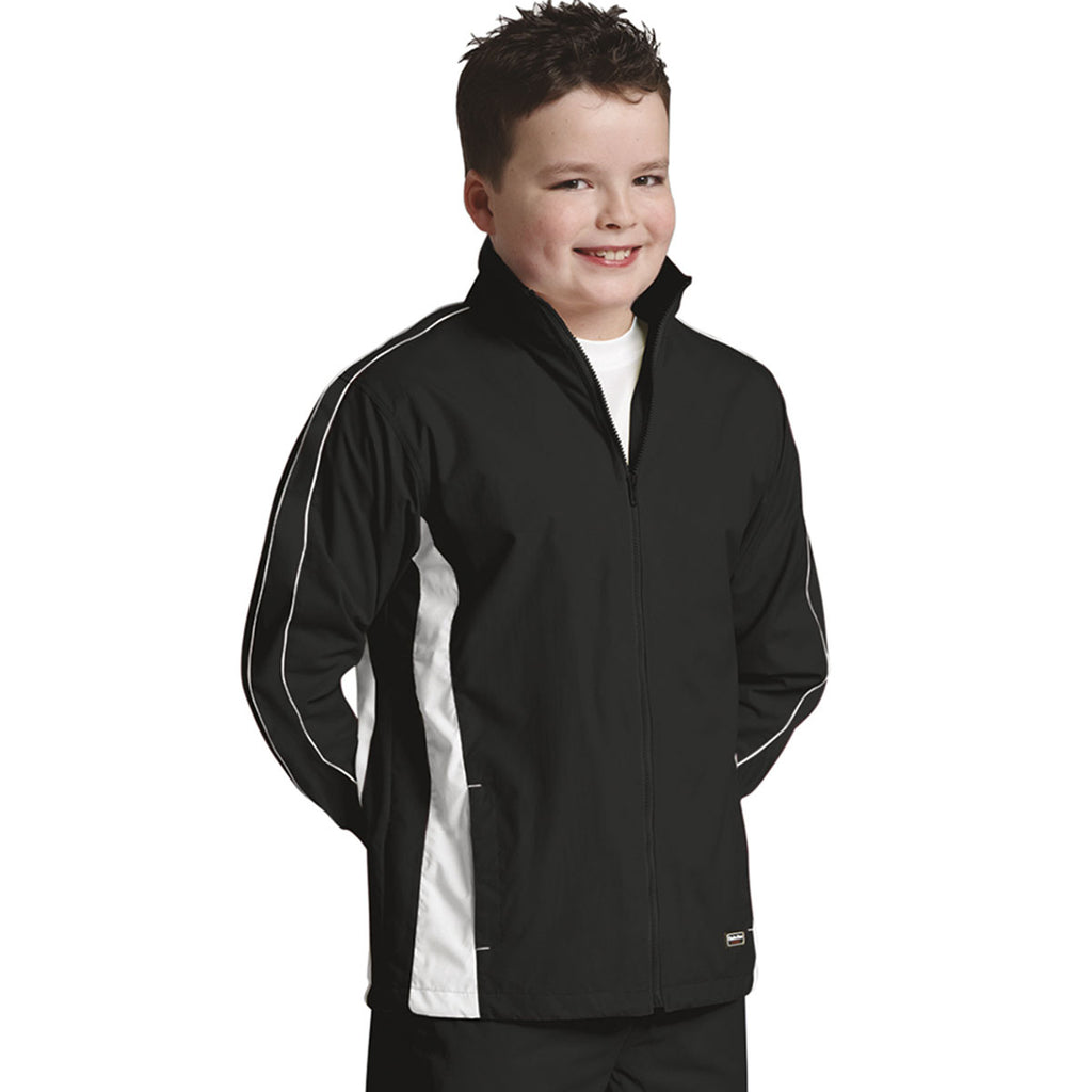 Charles River Youth Black/White Pivot Jacket