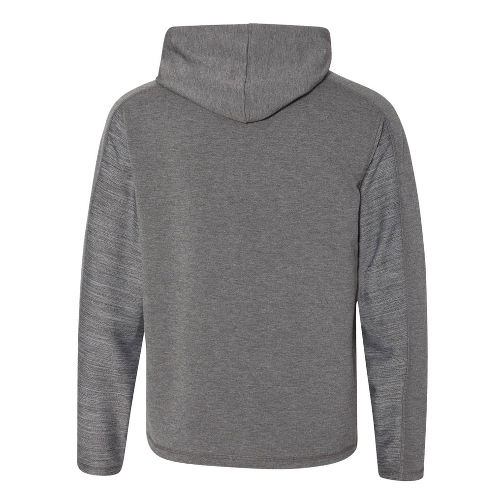 J. America Men's Charcoal Heather Omega Stretch Terry Hooded Pullover