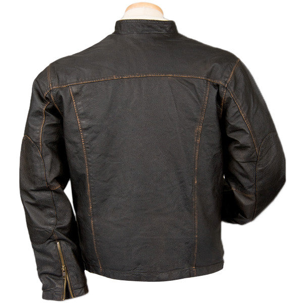 Burk's Bay Men's Brown Retro Vintage Jacket