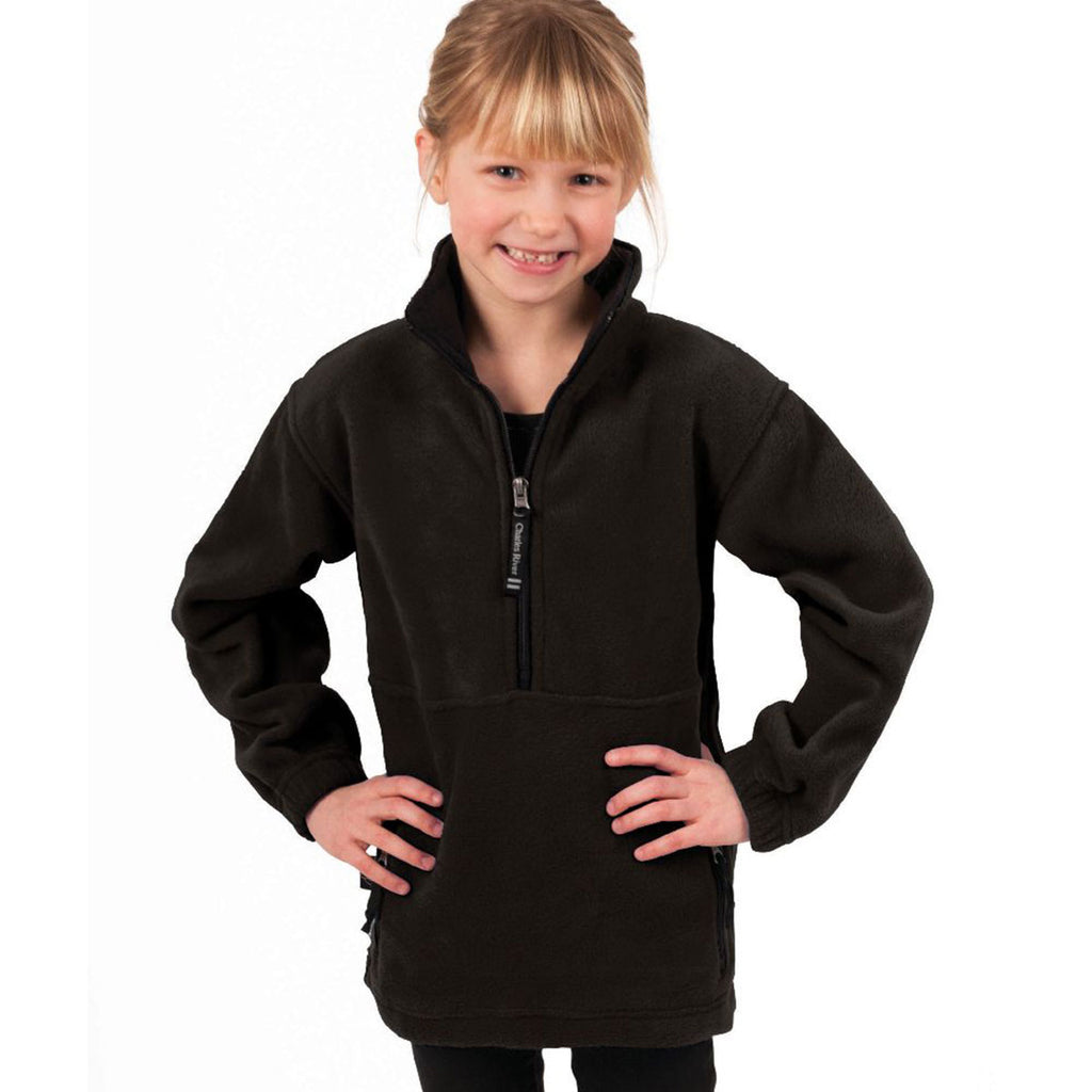 Charles River Youth Black Adirondack Fleece Pullover