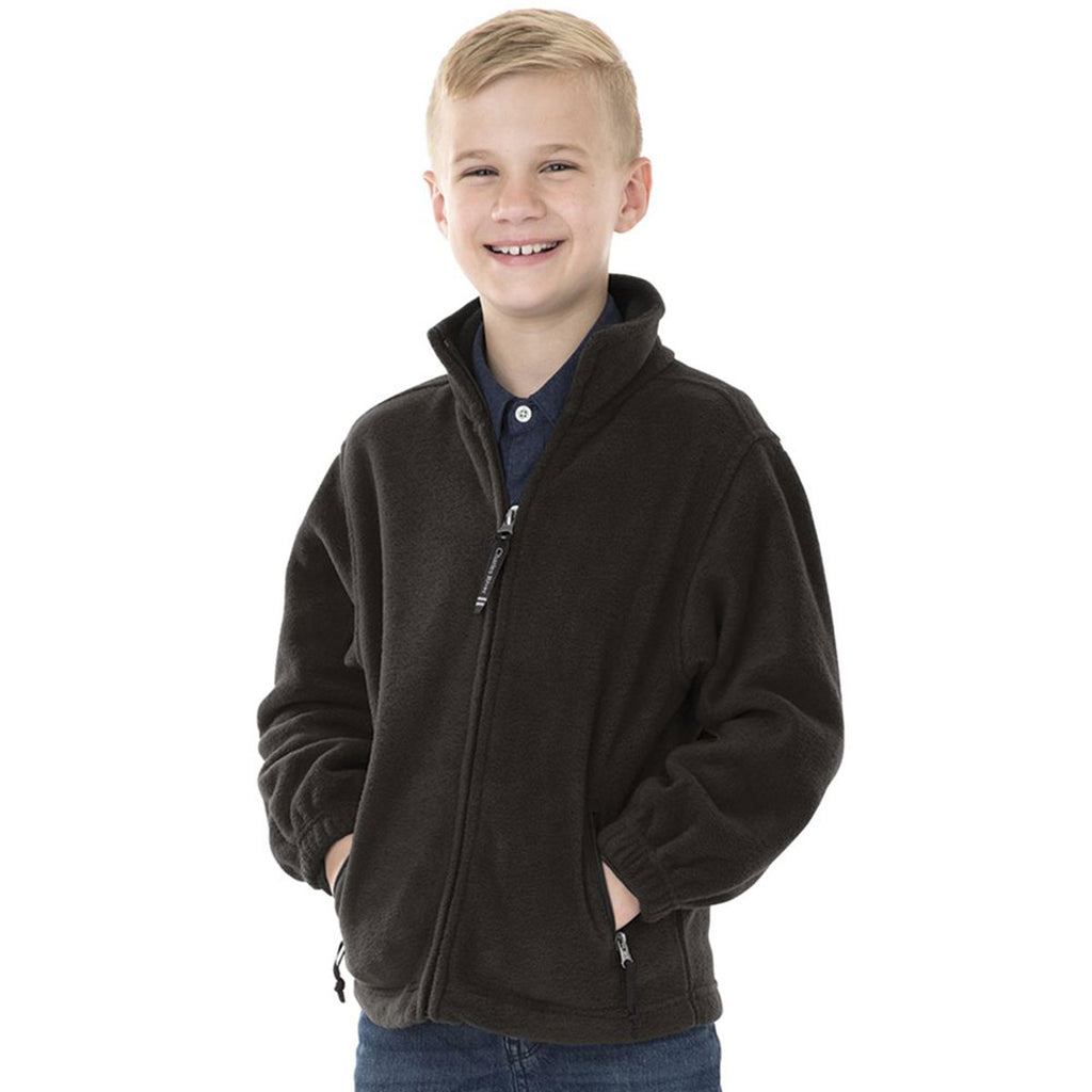 Charles River Youth Black Voyager Fleece Jacket