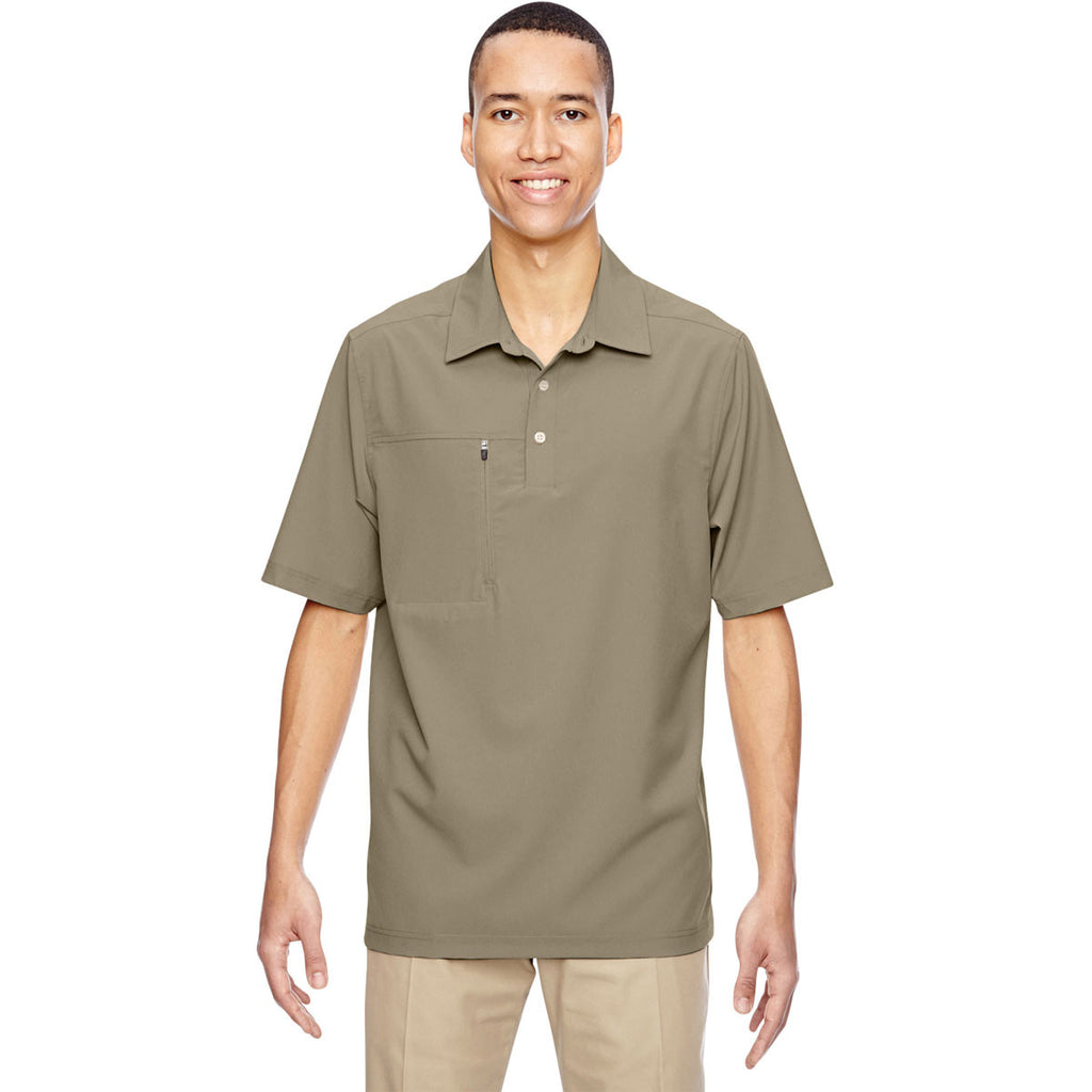 North End Men's Stone Excursion Crosscheck Performance Woven Polo