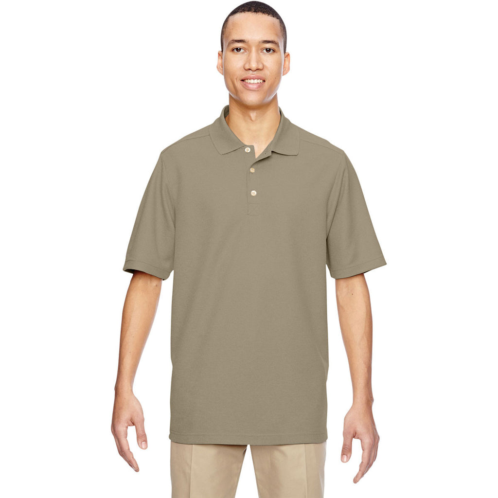 North End Men's Stone Excursion Nomad Performance Waffle Polo