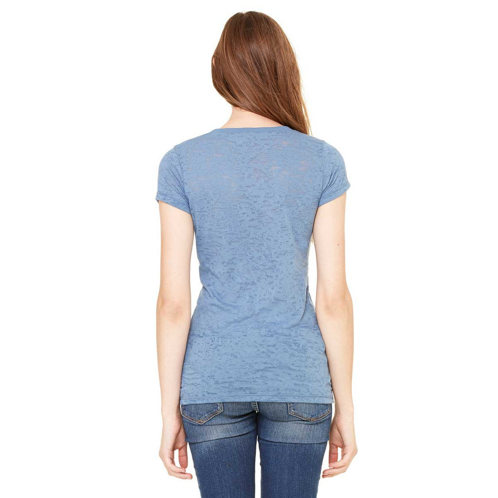 Bella + Canvas Women's Steel Blue Burnout Short-Sleeve T-Shirt