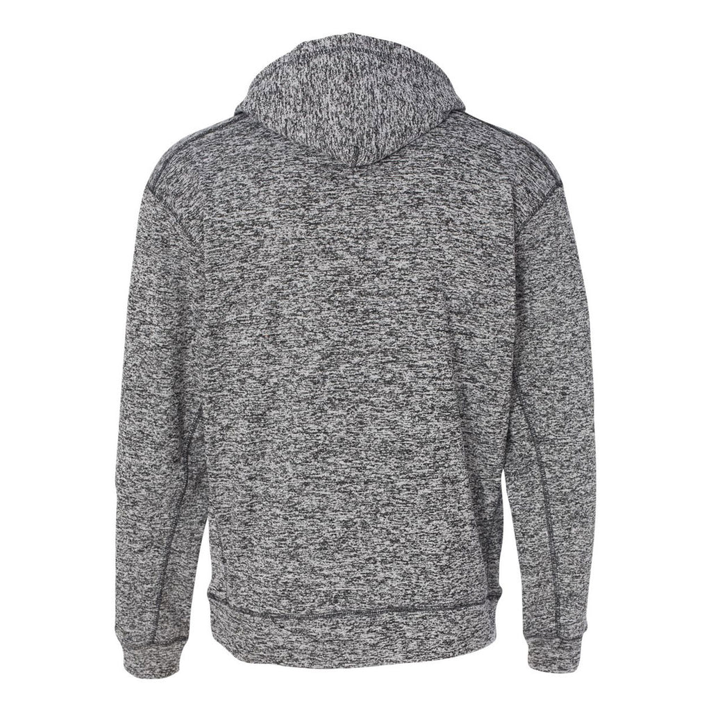 J. America Men's Charcoal Fleck Cosmic Fleece Hooded Pullover Sweatshirt