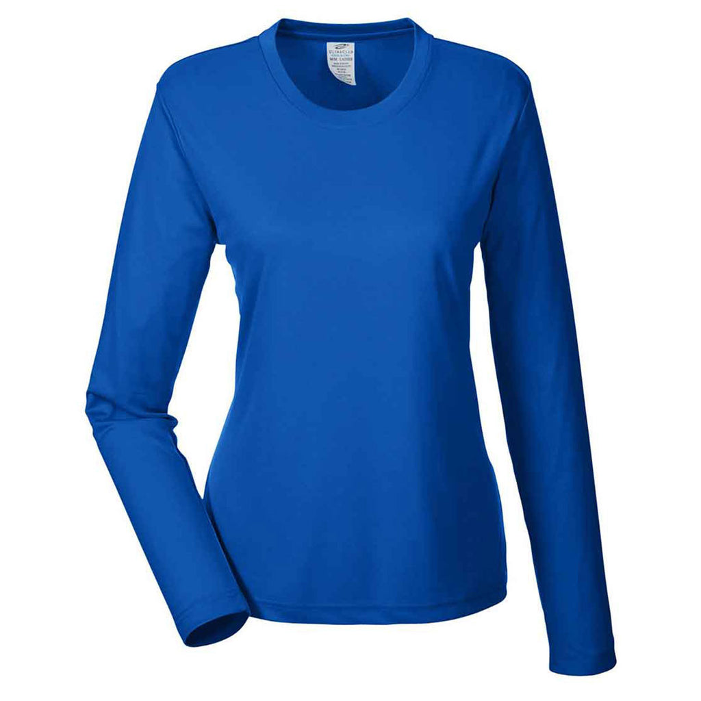 8bdeb2fe39f UltraClub Women s Royal Cool   Dry Performance Long-Sleeve Top. ADD YOUR  LOGO
