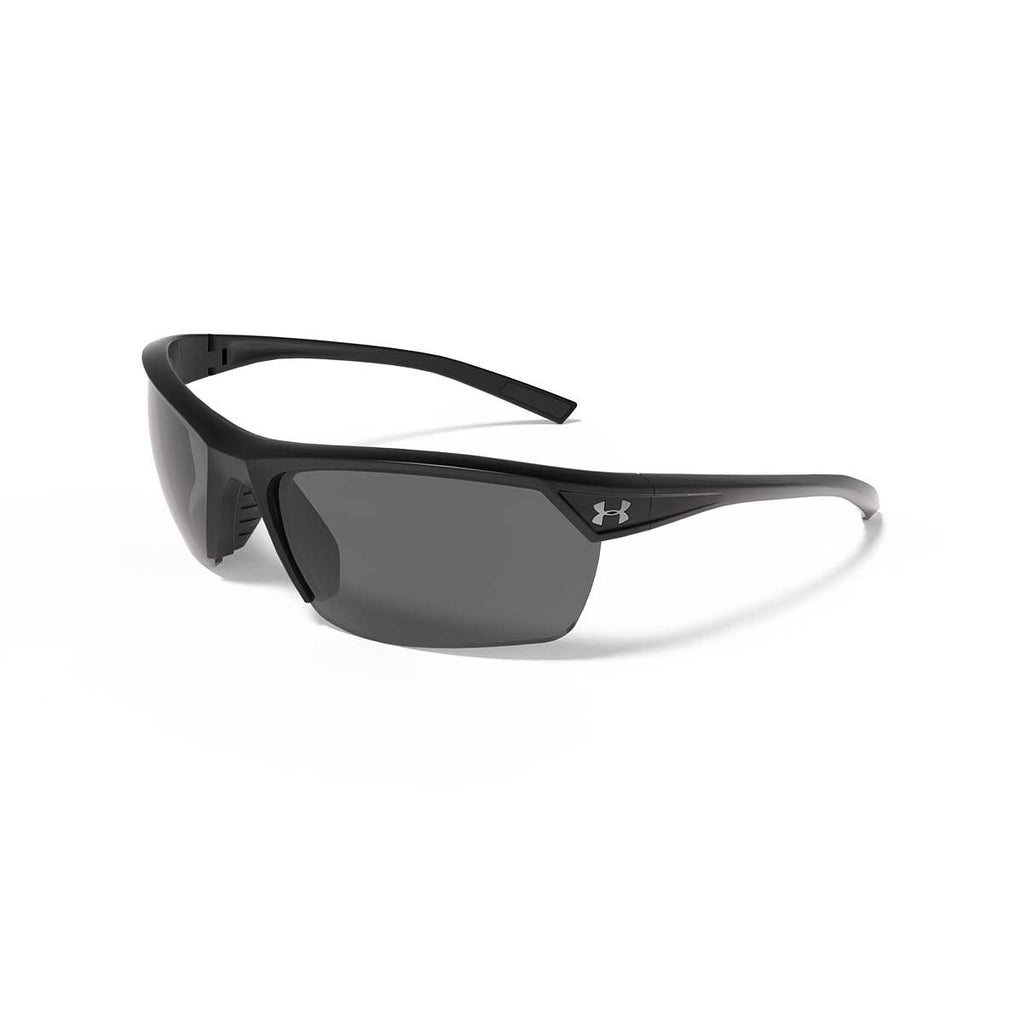 Under Armour Shiny Black UA Zone 2.0 Storm Polarized With Grey Lens
