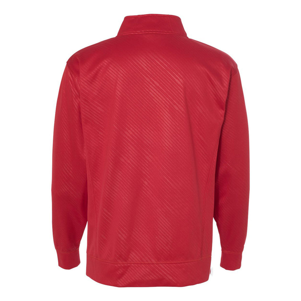 J. America Men's Red Volt Polyester Quarter-Zip Sweatshirt