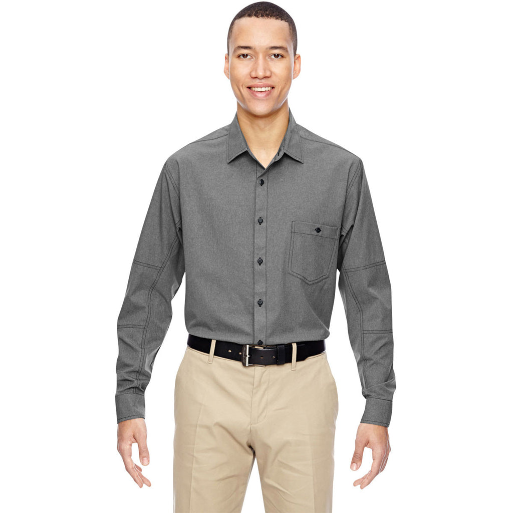 North End Men's Graphite Excursion Utility Two-Tone Performance Shirt