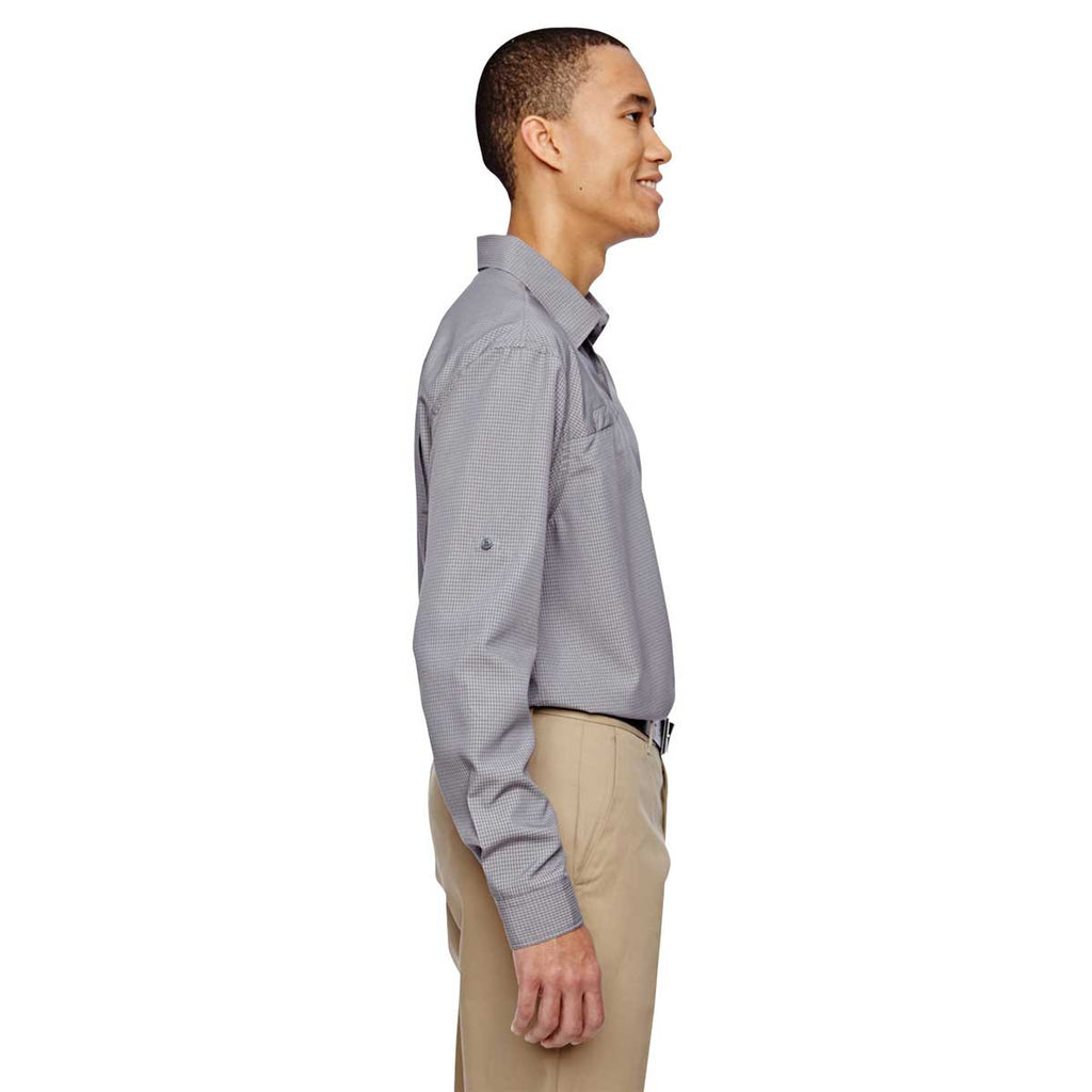 North End Men's Graphite Excursion F.B.C. Textured Performance Shirt