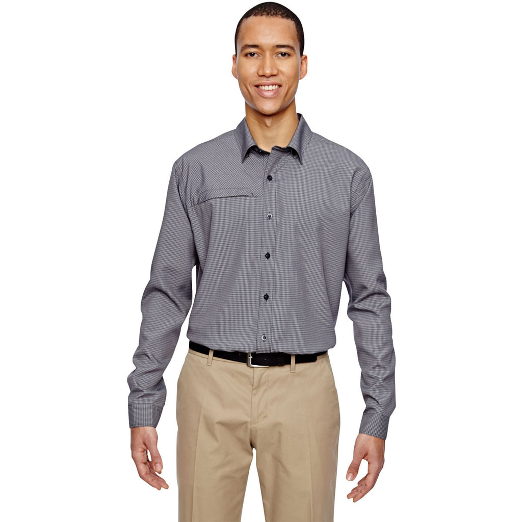 North End Men's Navy Excursion F.B.C. Textured Performance Shirt