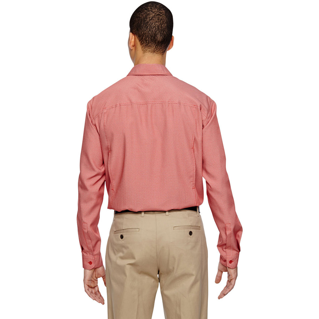 North End Men's Rust Excursion F.B.C. Textured Performance Shirt