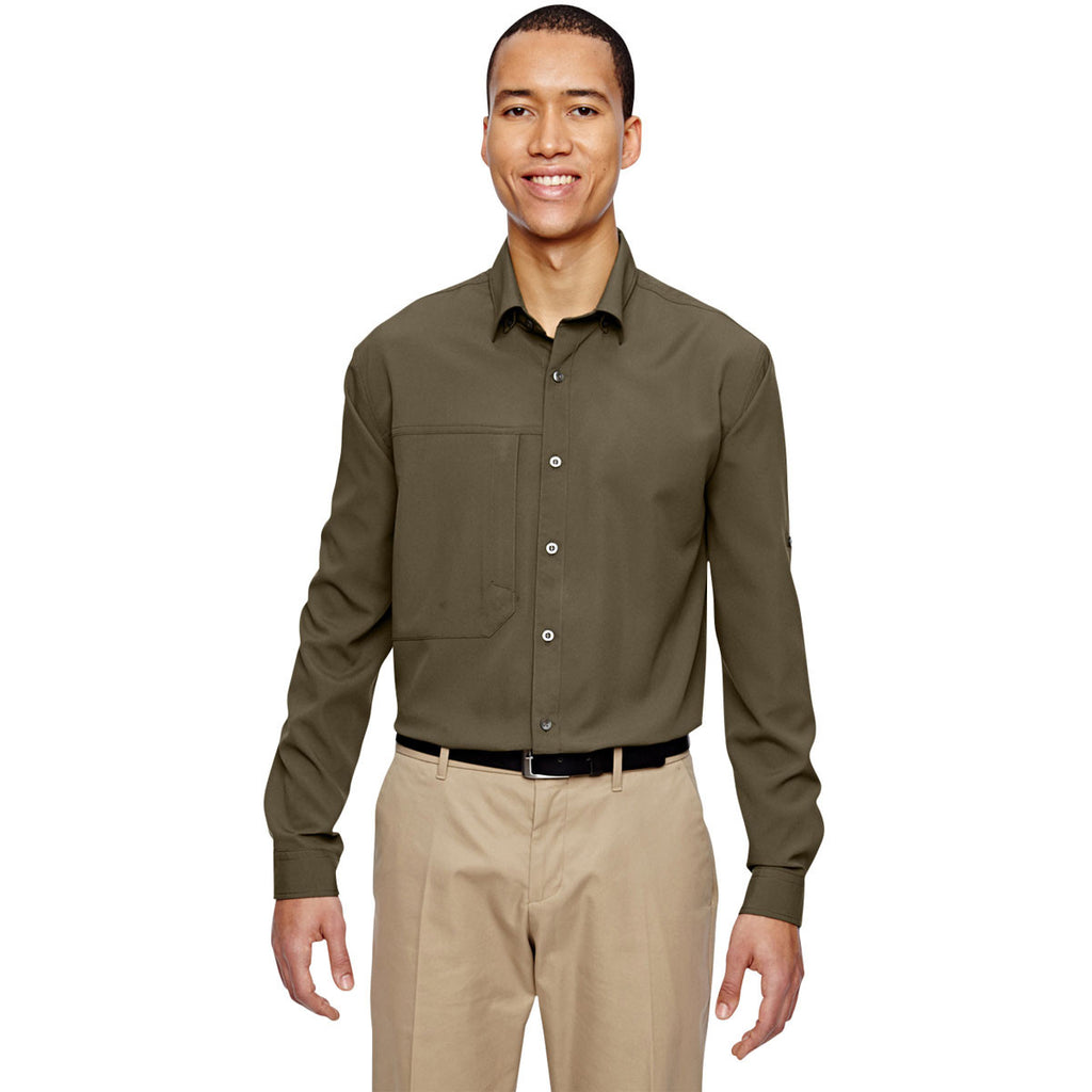 North End Men's Dark Oakmoss Excursion Concourse Performance Shirt