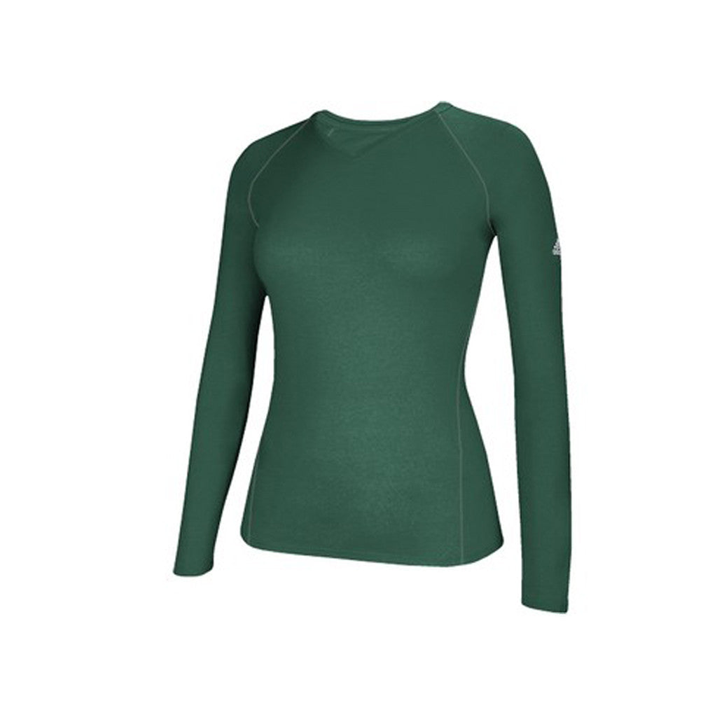 1c60339a601 adidas Women's Dark Green Climalite Long Sleeve Tee